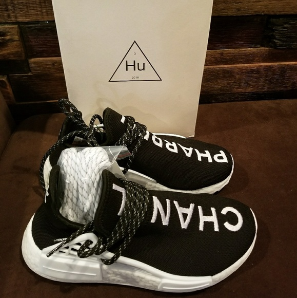 the latest d5502 10430 Pharrell x Chanel Adidas NMD HU HUMAN Race size 5 NWT
